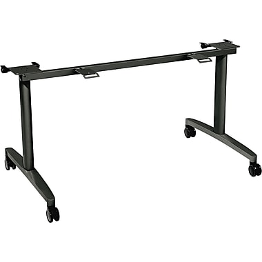 HON ® Huddle Series 28 1/2- 29 1/2in.H x 51 5/8in.W x 26 1/2in.D Flip- Top Table Base, Charcoal