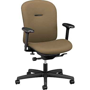 HON® Mirus™ 100% Polyester Low Back Synchro-Tilt Work Chair, Taupe