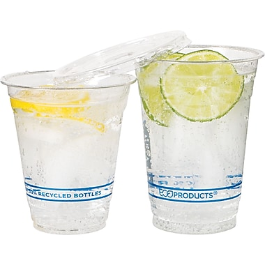 Eco-Products® Recycled Content Plastic Cold Cup, 9 oz., Clear, 50/Pack