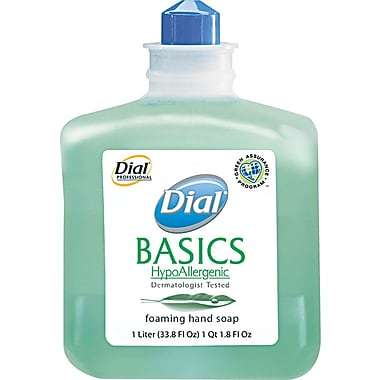 Dial® Basics Foaming Handwash Soap, Honeysuckle, Refill, 1000 ml.