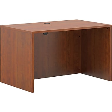 basyx® by Hon BL Laminate Base Rectangle Top Desk Shell, 29in.H x 48in.W x 30in.D, Medium Cherry