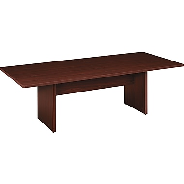 basyx by HON Rectangle Conference Table, Mahogany