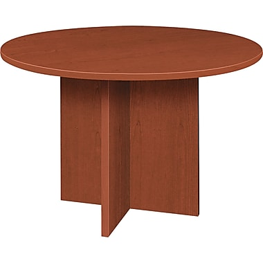 basyx by HON 48in. Round Conference Table, Medium Cherry