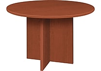 basyx by HON 48' Round Conference Table, Medium Cherry