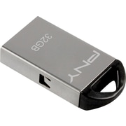 PNY 1/2 Metal 32GB USB 2.0 USB Flash Drive (Silver)