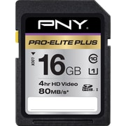 PNY Pro-Elite Plus 16GB SD (SDHC) Class 10 Flash Memory Card