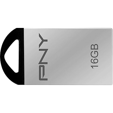 PNY Metal 16GB USB 2.0 USB Flash Drive (Silver)