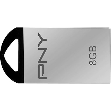 PNY Metal USB 2.0 USB Flash Drives (Silver)