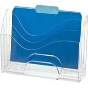 Officemate® 2-Way 3-Tier Desktop Organizer, Clear, 11 1/4H x 13W x 3 5/8D