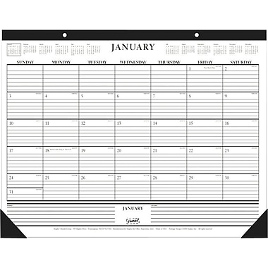 2014 Staples® Monthly Desk Pad, 22in. x 17in.