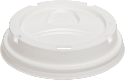 Dixie Plastic Lids, 10-16 oz PerfecTouch Cups & 12-20 oz Paper Hot Cups, White, 500/Case (9542500DX) 833834