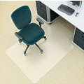 deflect-o Environmat PET Studded Chair Mat, Clear, 48in.L x 36in.W