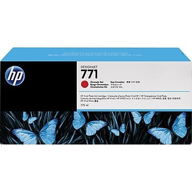 HP 771 Chromatic Red Ink Cartridge (CR251A), 3/Pack