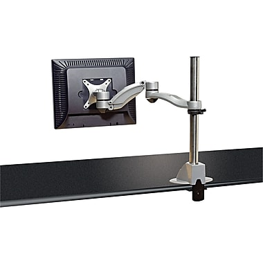 Kelly Desk Mounted Flat Panel Monitor Arm, Silver, Up To 21in. Monitor, 40 lbs.