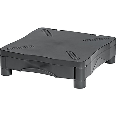 Kelly Computer Monitor Stand With Drawer, Black, 4in.(H) x 13 1/4in.(W) x 13 1/2in.(D), 60 lbs.