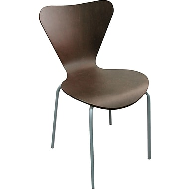 Linea Italia® Trento Line Stained Compressed Plywood Sienna Stack Chair, Mocha