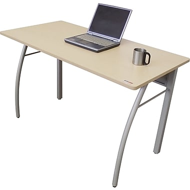 Linea Italia® Steel Base Trento Line Rectangular Desk, 29 1/2in.H x 47 1/4in.W, Oatmeal/Gray