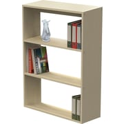 Linea Italia® 3-Shelf Trento Line Woodgrain Laminate Bookcase, Oatmeal