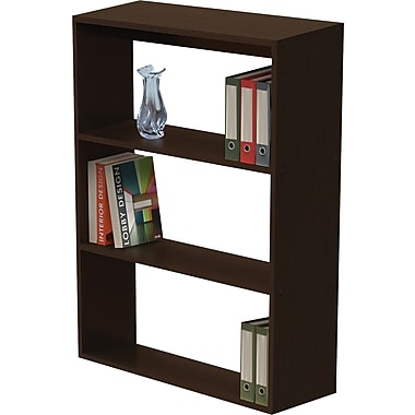 Linea Italia® 3-Shelf Trento Line Woodgrain Laminate Bookcases