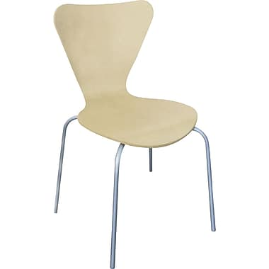Linea Italia® Trento Line Stained Compressed Plywood Sienna Stack Chair, Oatmeal
