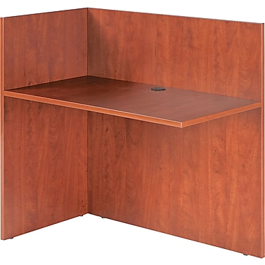 Alera® Valencia Woodgrain Laminate Reversible Reception Return, 41 1/2in.H x 44in.W, Medium Cherry