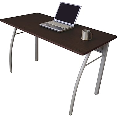 Linea Italia® Steel Base Trento Line Rectangular Desk, 29 1/2in.H x 47 1/4in.W, Mocha/Gray