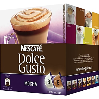 Nescafe Dolce Gusto Coffee Capsules, Mocha, 2.23 oz., 16/Box