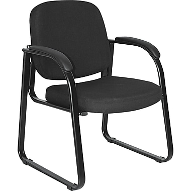 Alera® Reception Lounge 100% Polyester Guest Chair, Black