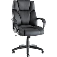 Alera® Fraze Executive High Back Swivel/Tilt Soft-Touch Leather Chair, Black