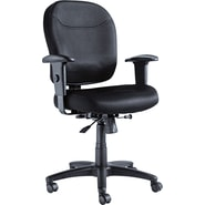 Alera® Wrigley Padded Mesh Swivel/Tilt Mid Back Chair, Black