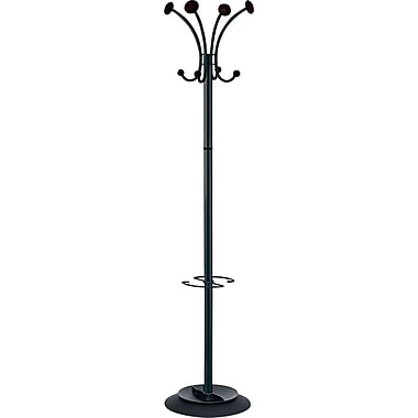 Alba Stily Steel Coat Rack, Black