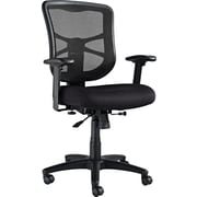 Alera® Elusion Mesh Mid Back Swivel/Tilt Polyester Chair, Black