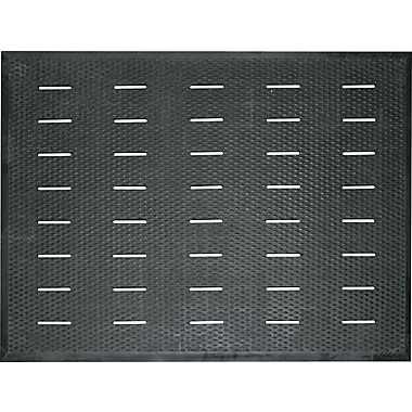 Guardian Free Flow Comfort Rubber Utility Floor Mat, 48in.L x 36in.W, Black