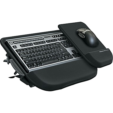 Fellowes ® Tilt 'N Slide Keyboard Manager, Black, 8 3/4in.(W) x 11in.(D) Mouse Tray