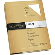 SOUTHWORTH® Premium Laser Paper, 8 1/2 x 11, 32 lb., Smooth Finish, Wicked White 95, 300/Box