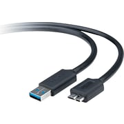 Belkin® USB 3.0 Cable Adapter, A To MicroB, 3'(L), Black