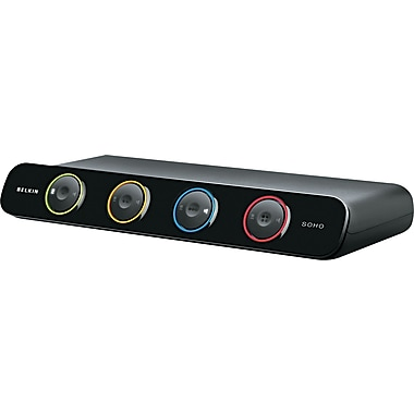 Belkin® SOHO 4-Port Black Desktop KVM Switch