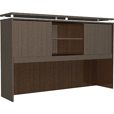 Alera® SedinaAG Woodgrain Laminate Hutch With Sliding Doors, 72in.W, Espresso