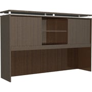 "Alera® SedinaAG Woodgrain Laminate Hutch With Sliding Doors, 72""W, Espresso"