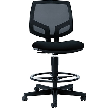 HON Volt Mesh Back Task/Drafting Stool, Black