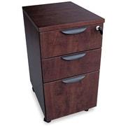 "Alera® Valencia 20 1/2""D 3 Drawer Mobile Box/Box/File Pedestal File, Mahogany"