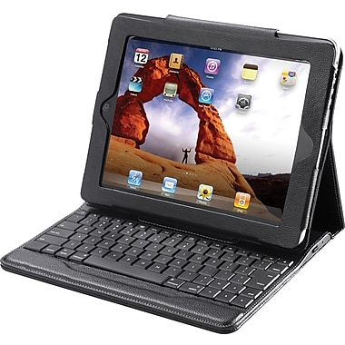 The Sharper Image iPad Portfolio with Bluetooth Keyboard, Black
