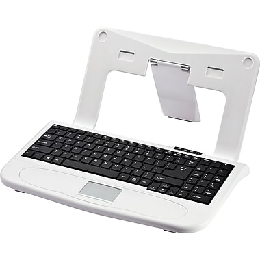 The Sharper Image Laptop Stand with Built-in Keyboard