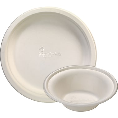 Sustainable Earth By Staples® Compostable Plates and Bowls