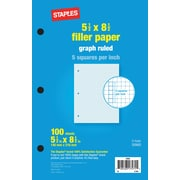 Staples® Graph Ruled Filler Paper