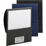 """Smead Stackit™ Folders in Linen Stock, Black, 9 1/2""""W x 11 1/2"""", 5/Pk"""