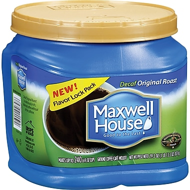 Maxwell House Original Roast Ground Coffee, Decaffeinated, 29.3 oz. Can