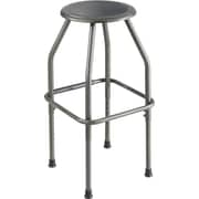"Safco® Diesel™ Stool, Steel, Pewter, Seat: 22 - 30""H x 17""W x 17""D"