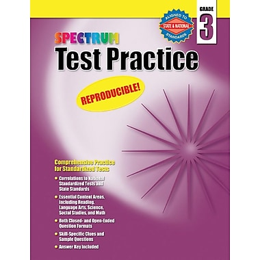 Spectrum Test Practice Workbook, Grade 3