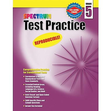 Spectrum Test Practice Workbook, Grade 5